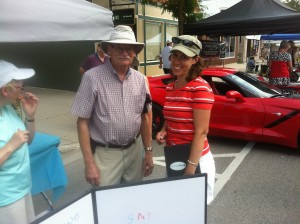 Shira and Ron Parsons, Next Step booth at the Alliston Potato Festival 2014