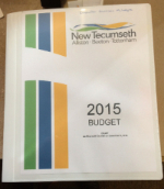 Photo - Cover of the 2015 New Tecumseth Council Budget