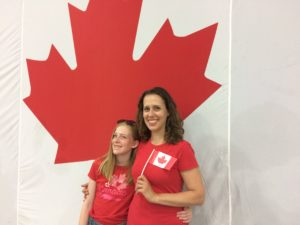 Shira and Tay on Canada Day 2018