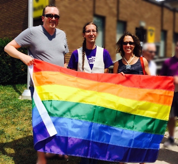 Photo - Raising the flag for Pride Week 2015