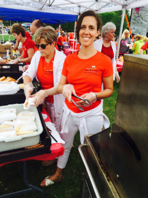 Photo - Serving free hot dogs at the Canada Day celebrations in Alliston