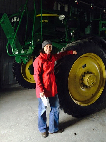 Photo - Shira and a large tractor taken at FS Partners